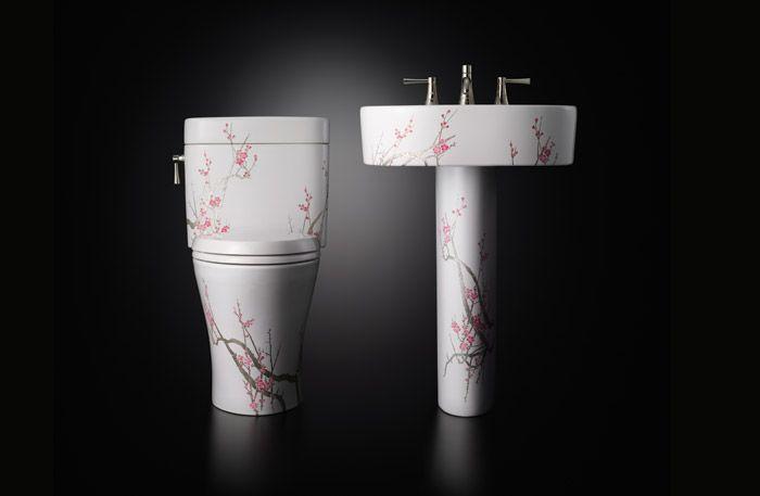 Si deseas un toque diferente para el cuarto de baño ...
