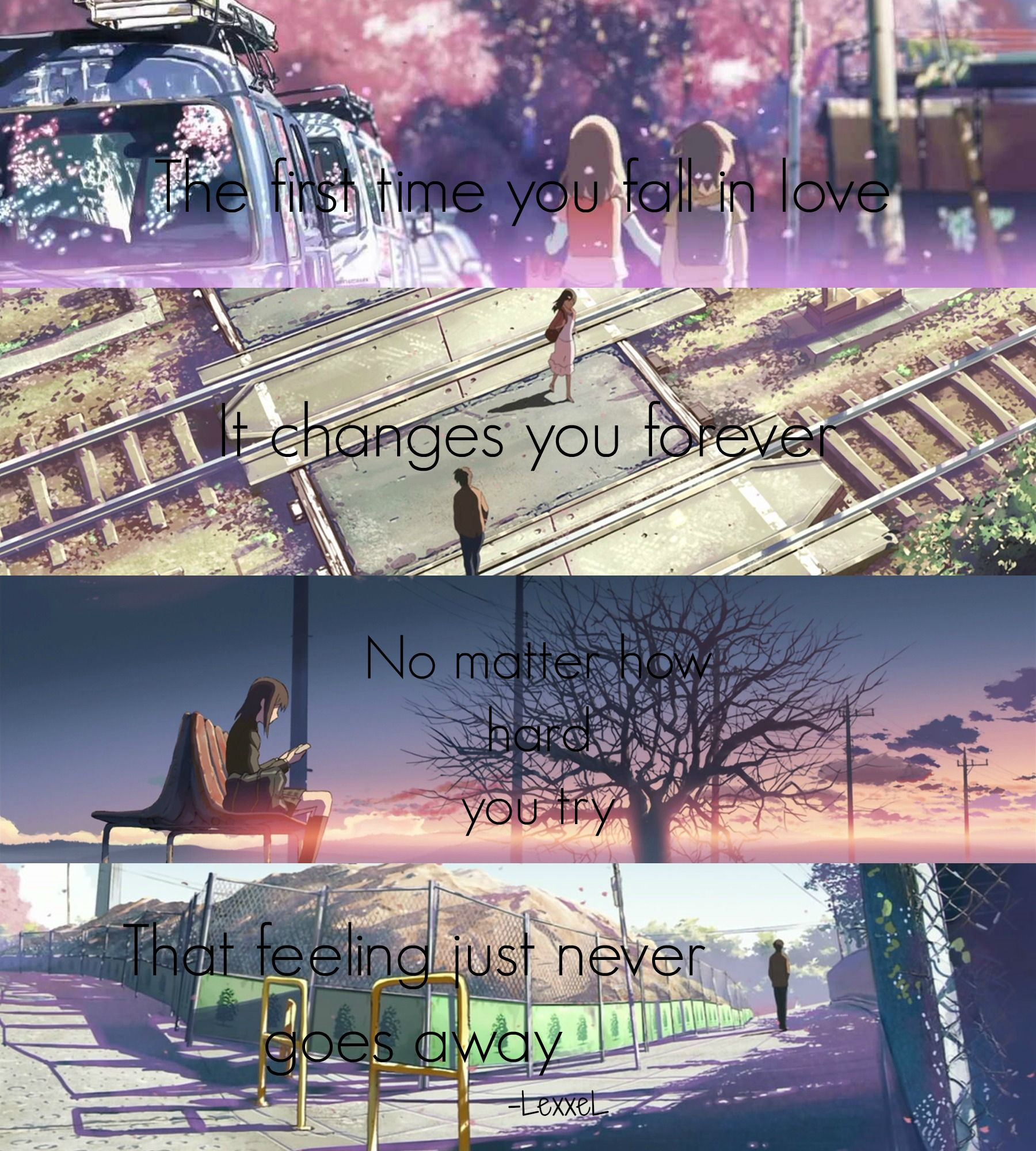 5 centimeters per second Anime quotes, Anime life, Anime