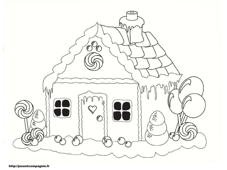 Casa coloració pintar - Dibuix d\'impressió | .Coloriages ,dessin ...
