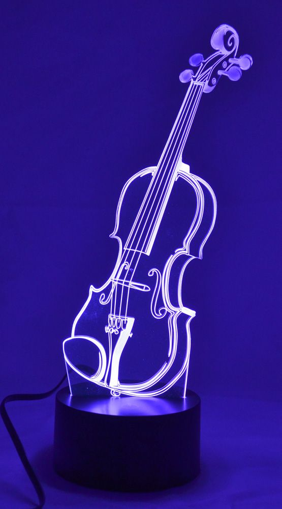 Violin 3d Lamp 3d Led Lamp 3d Illusion Lamp 3d Lamp