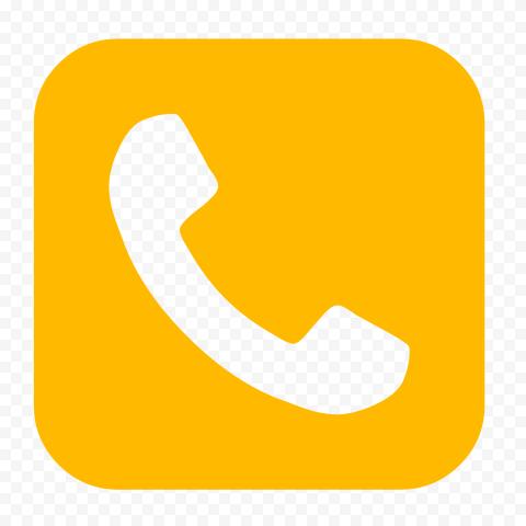 Hd Orange Square Phone Icon Png In 2021 Orange Square Phone Icon Icon