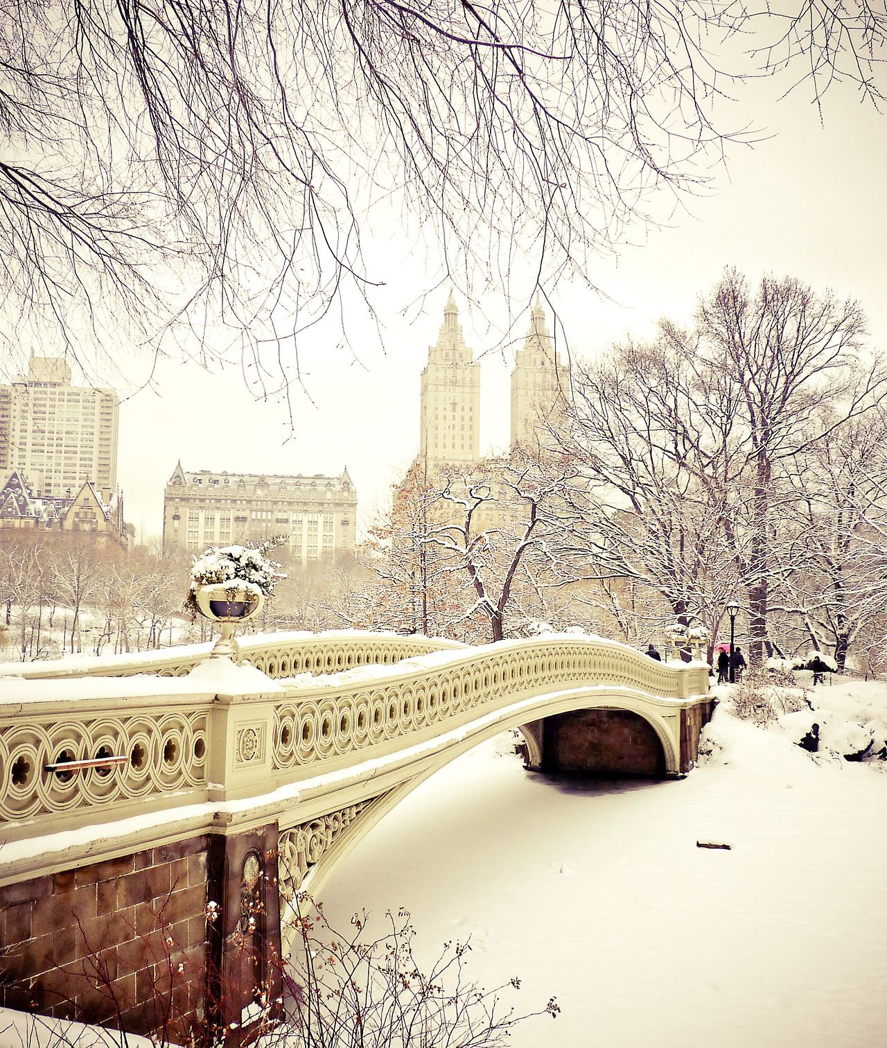 new york city winter central park in the snow enjoy a fairy