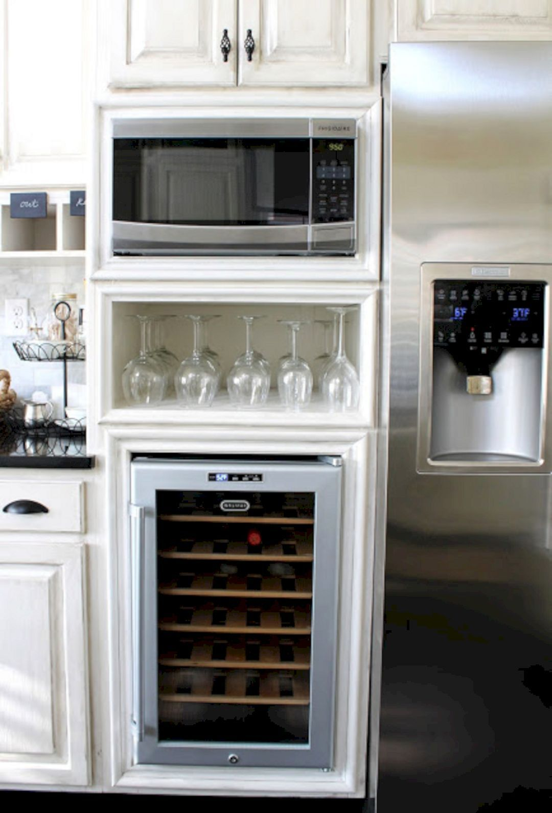 Outstanding 71 best built in microwave cabinet inspirations for beautiful kitchen https