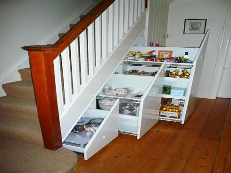 pull out under stairs closet storage plan