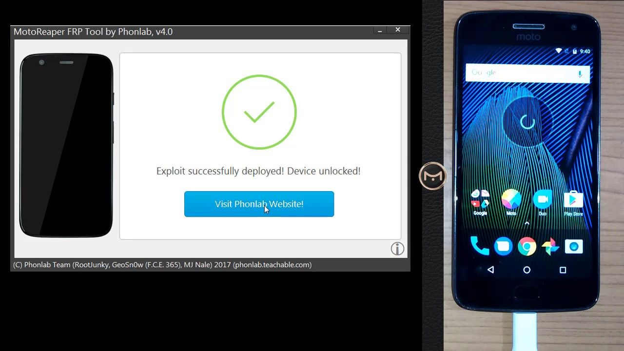 Bypass Google Account Motorola moto Android 7 0 / 7 1 1 Remove FRP