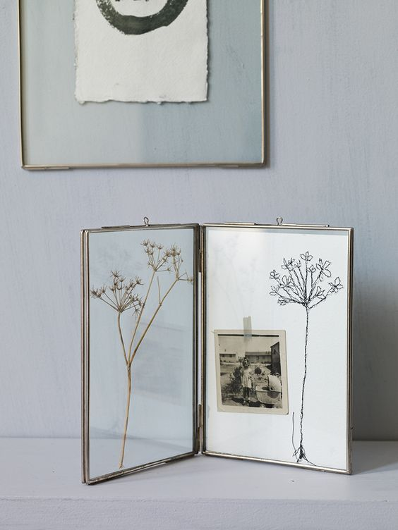Photo of Hinged Glass Frame – Silver