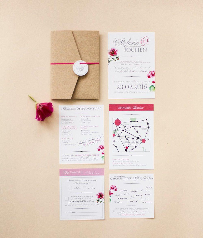 Umfassendes PapeterieSet in Rottnen und Pocketfold  Hochzeitspapeterie  Pinterest  Karte