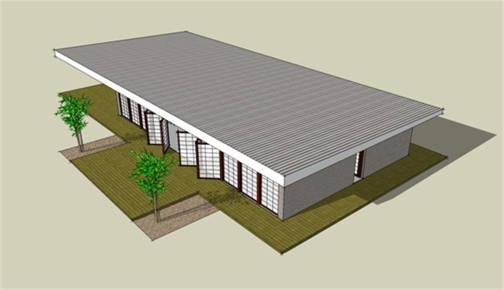Vista aerea casa moderna 6 planos de viviendas planos for Viviendas modernas planos
