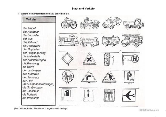 Stadt und Verkehrsmittel 2 | Schule | Pinterest | Verkehrsmittel ...