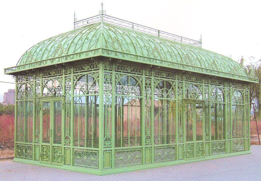 Wintergarten Orangerie Jugendstil Pavillon Gewachshaus Or001
