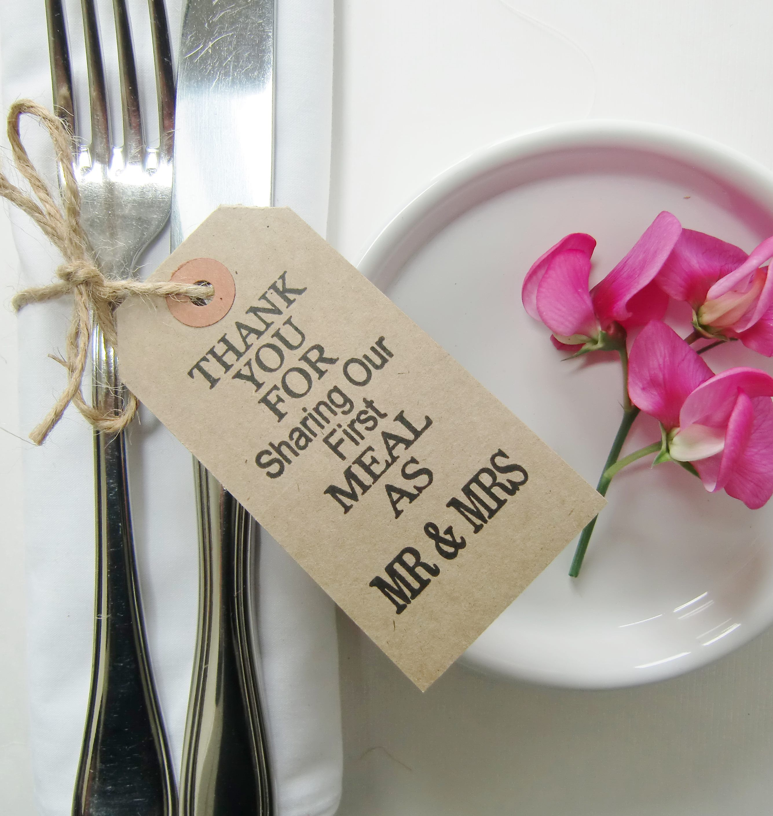 WEDDING FAVOR/NAPKIN HOLDER/SILVERWARE/CUTLERY TIE - ALL IN ONE ...
