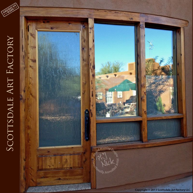 Custom Door Craftsman Style door and matching windows | Hand Crafted ...