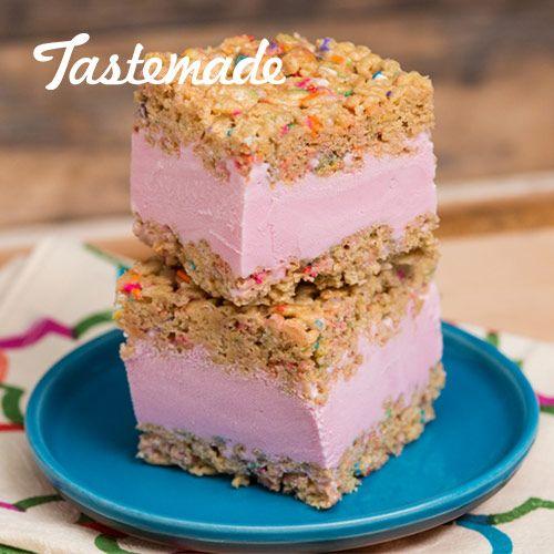 Butter Rice Krispie Ice Cream Sandwich | Recipe | Cereal ...