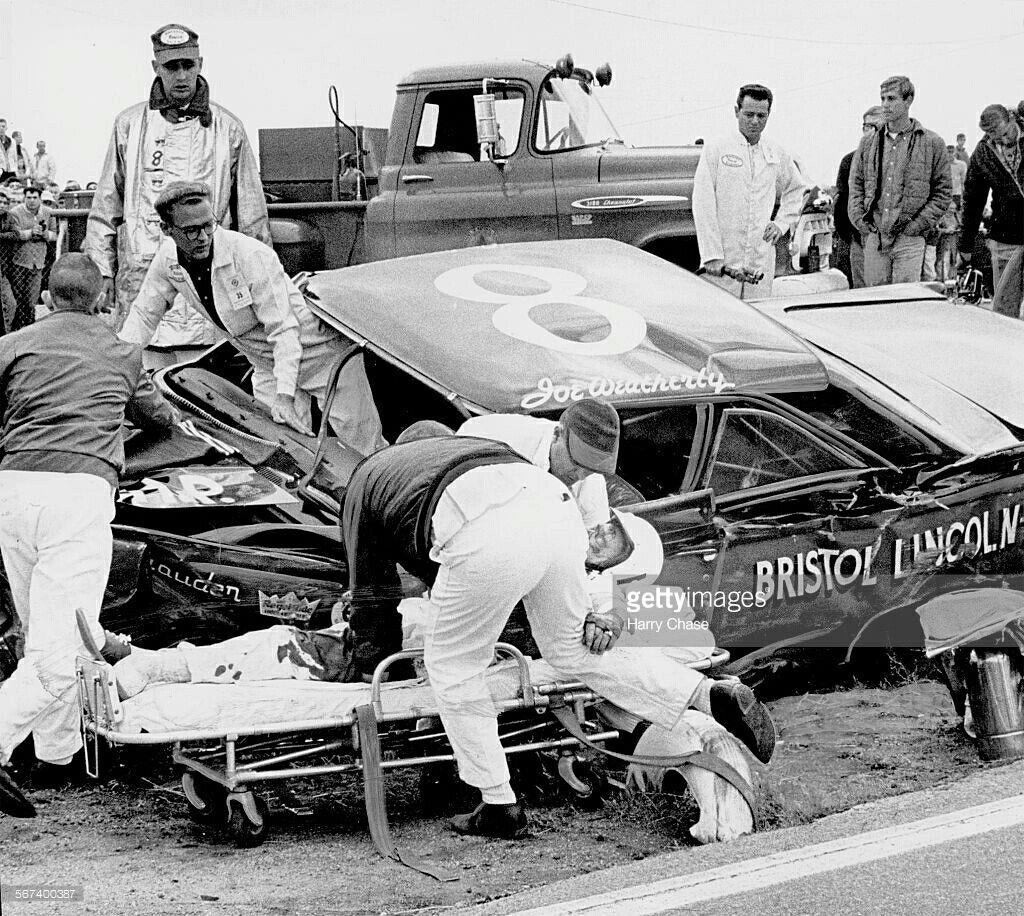 Joe weatherly 1964 nascar race cars nascar crash