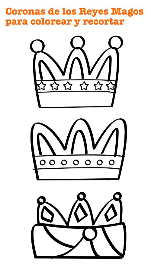 Corona Reyes Magos Para Colorear Manualidades Coronas De Reyes Magos Manualidad Reyes Magos Rey Para Colorear