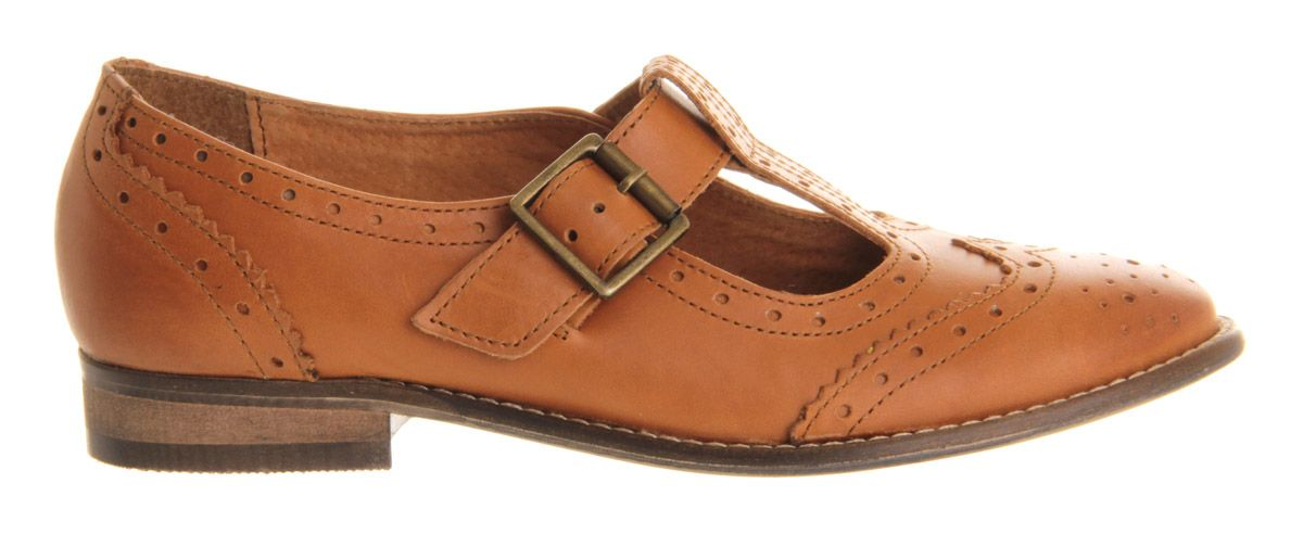 Office Tinker Taylor Tbar Tan Leather - Flats
