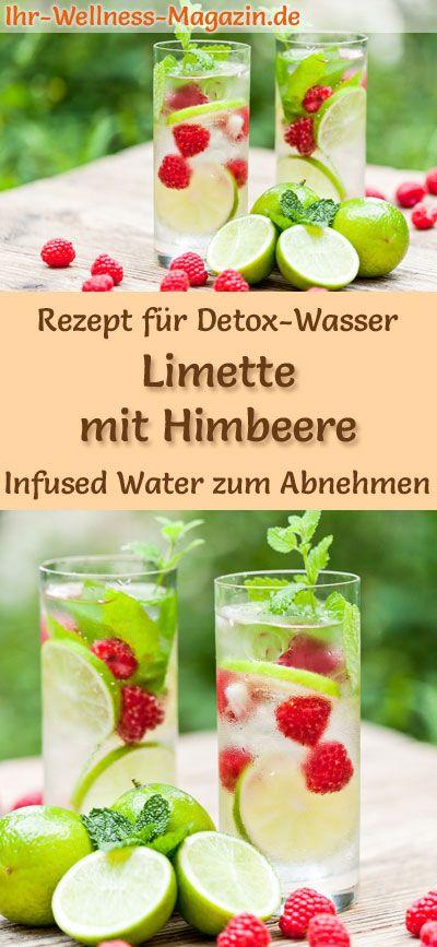 Limetten-Himbeer-Wasser - Rezept für Infused Water - Detox-Wasser