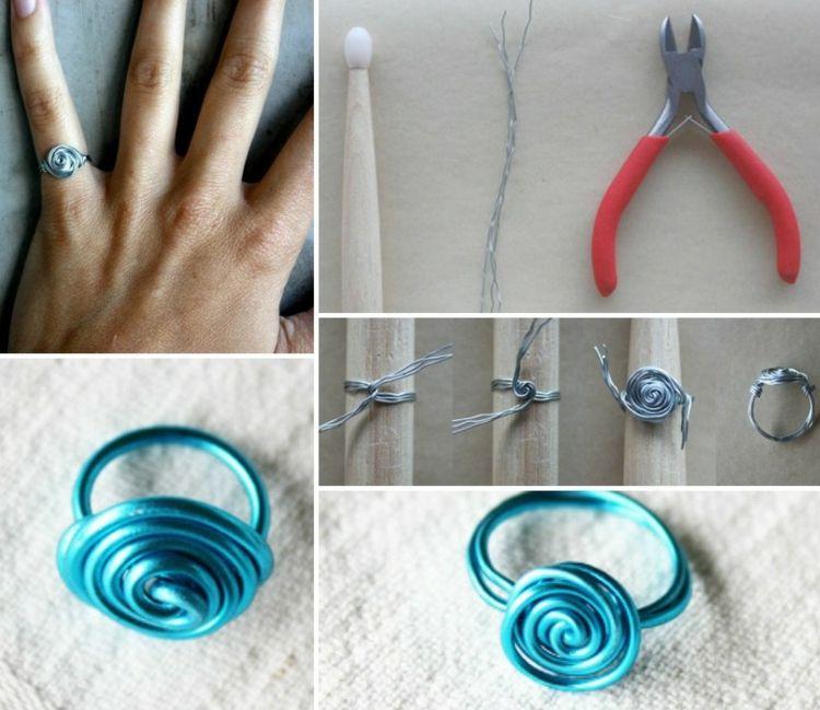 Draht Ring in Rosenform | Handarbeiten | Pinterest | Draht, Ringe ...
