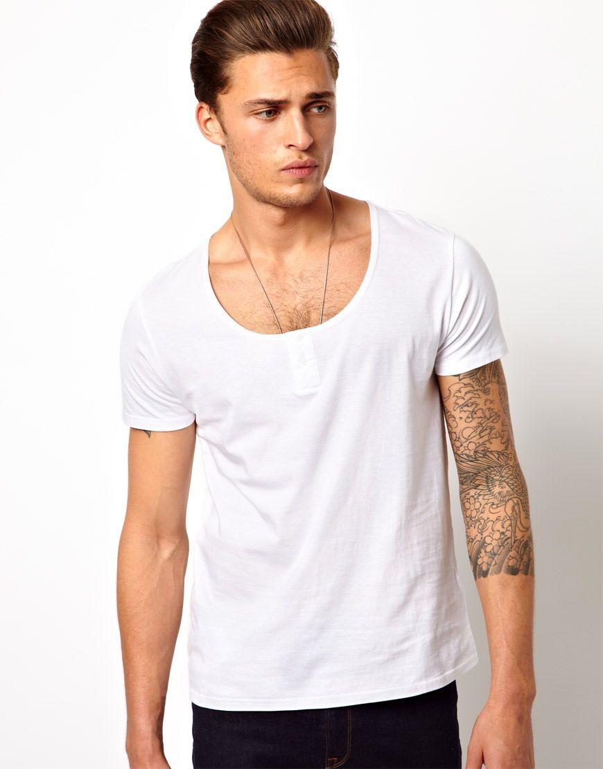 b72605d3 ASOS T-Shirt With Grandad Scoop Neck | BEOWULF BRAND™ | Asos t ...