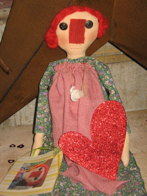 Valentine Rag Dolls (hand-did by Sister Frances Catherine Stevens)