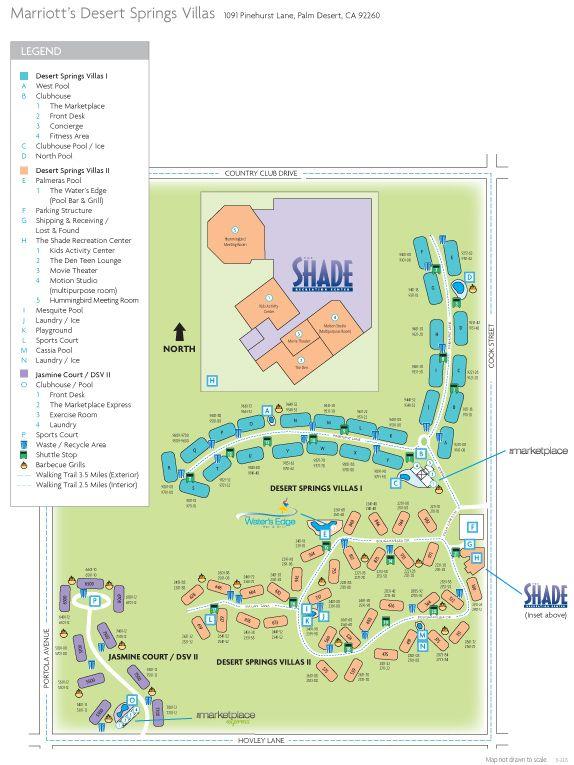 marriott desert springs villas ii resort map Resort Map For Marriott S Desert Springs Villas Marriott Desert marriott desert springs villas ii resort map