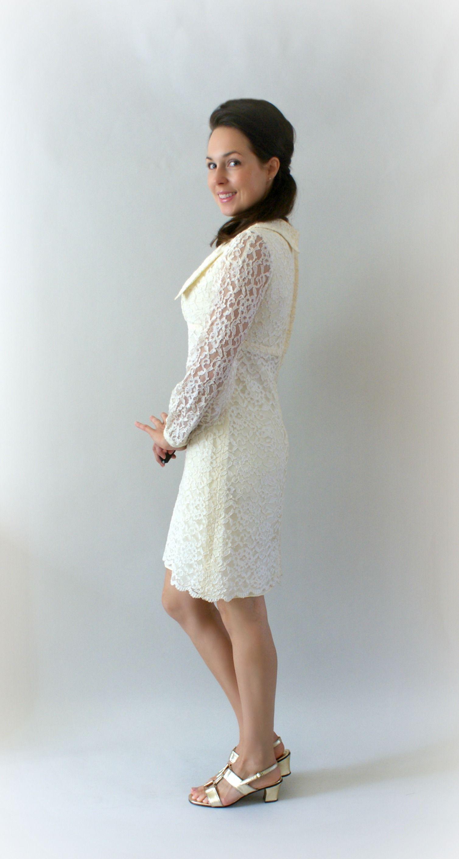 Vintage 1960s Short Wedding Dress Sweet Bee Finds