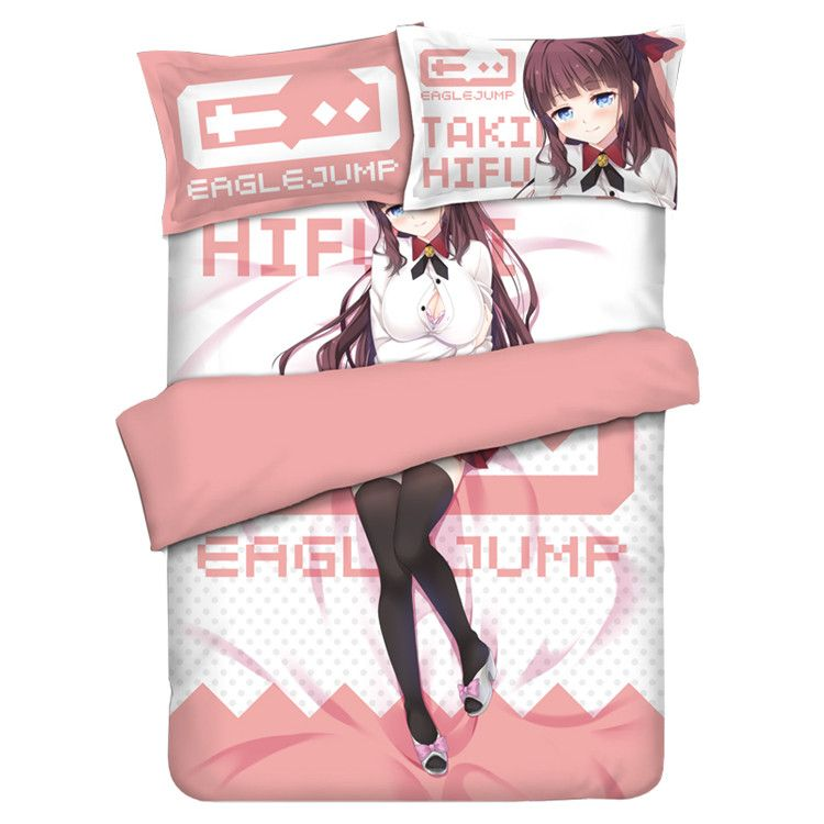 SUZUKAZE AOBA Hifumi Dakimakura Cushion Pillow Case Bedding Anime NEW GAME!