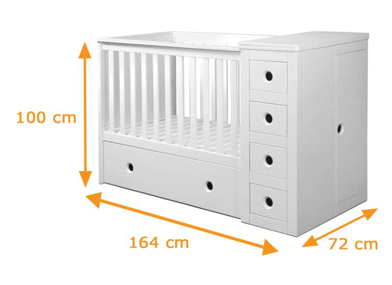 side drawers for June? Baby crib designs, Cot bedding