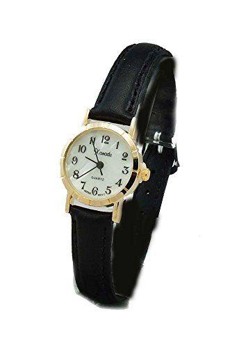 Xanadu Ladies Gold Tone Case Black Leather Watch with Easy to Read Dainty Dial Xanadu http://www.amazon.com/dp/B00PEBG22A/ref=cm_sw_r_pi_dp_F-SWvb0850NF3