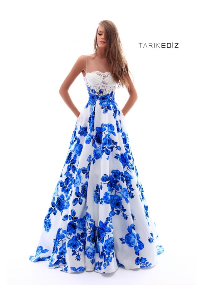 Tarik Ediz- Prom 2018 Collection Style #50231 Long Floral ...