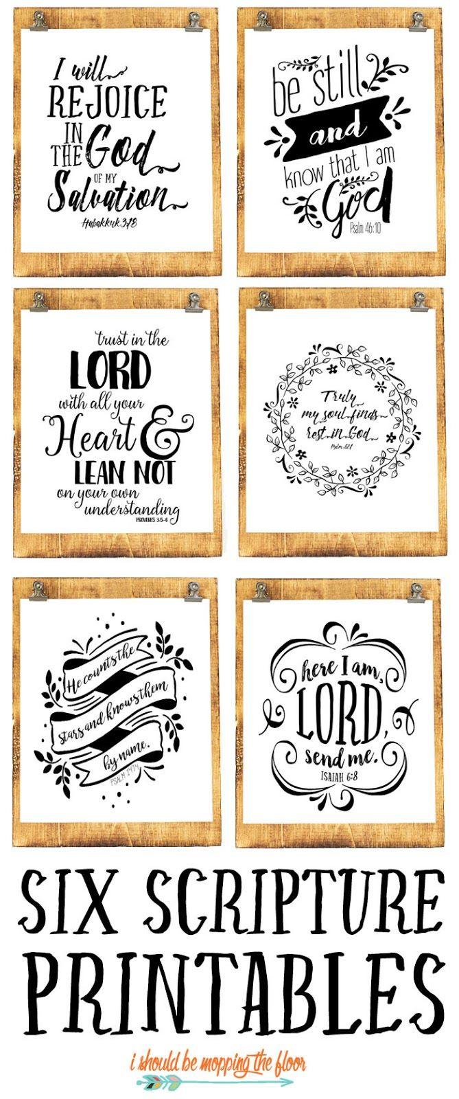 Six Beautiful Scripture Printables | BG PROJECTS | Scripture
