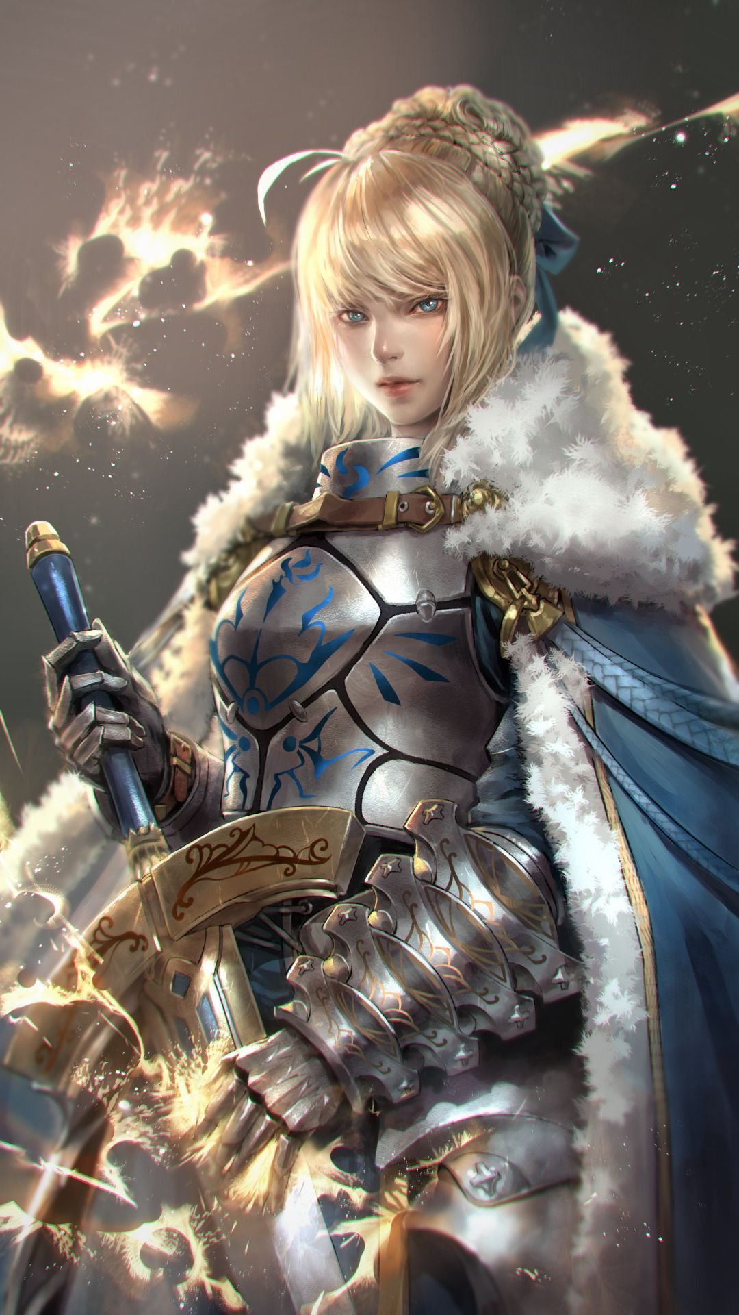 Queen Artoria Pendragon (Saber) Fate series anime digital