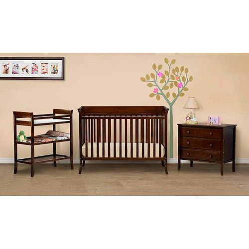 Ava 4-Piece Nursery Set, Espresso | Cot and Babies