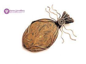 Large handcrafted Mariam Quartz statement pendant by www.karenjjewellery.co.uk