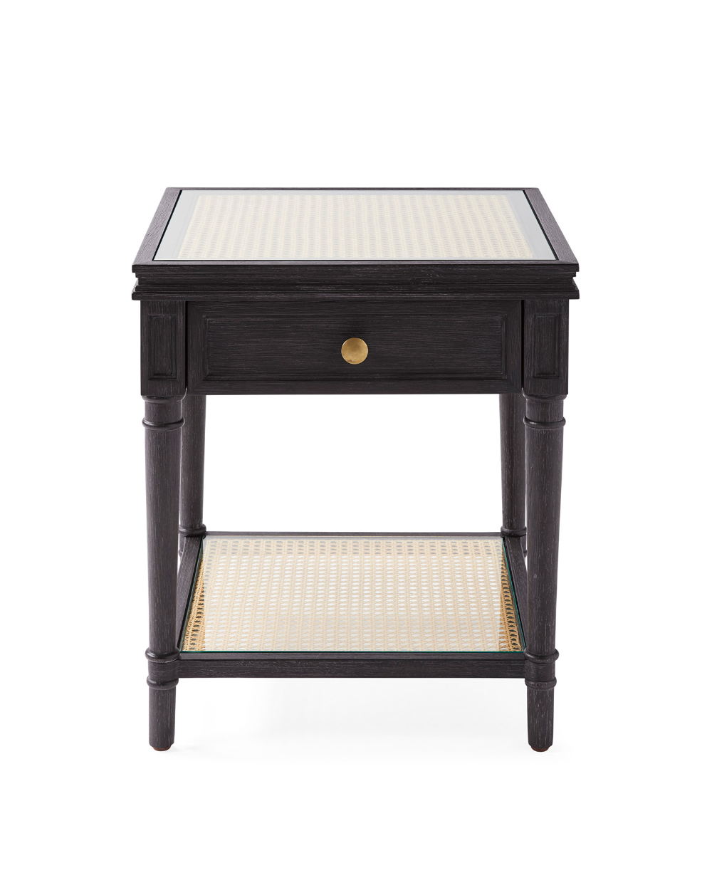 Harbour Cane Nightstand Side Table Parisian Home Decor Cane Furniture [ 1250 x 1000 Pixel ]