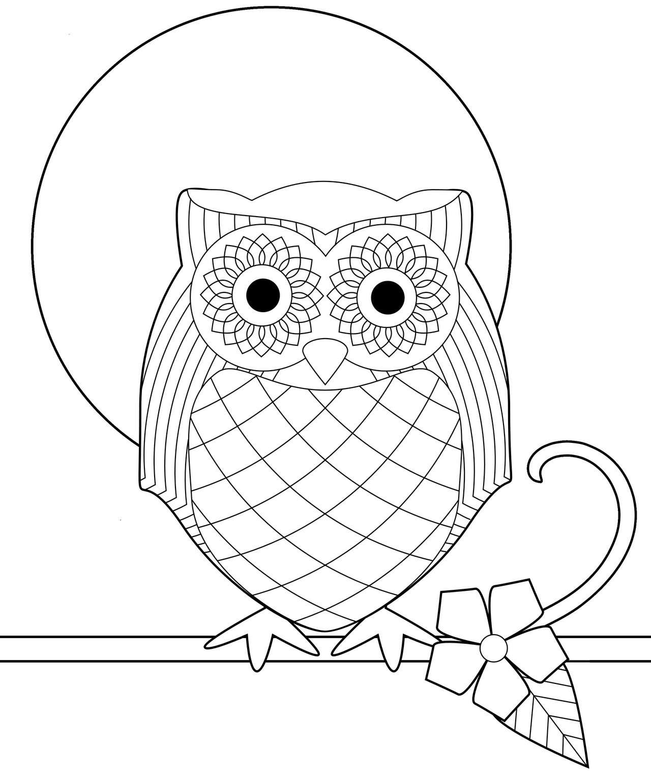 Whimsical Owl Coloring Pages Cartoon Of