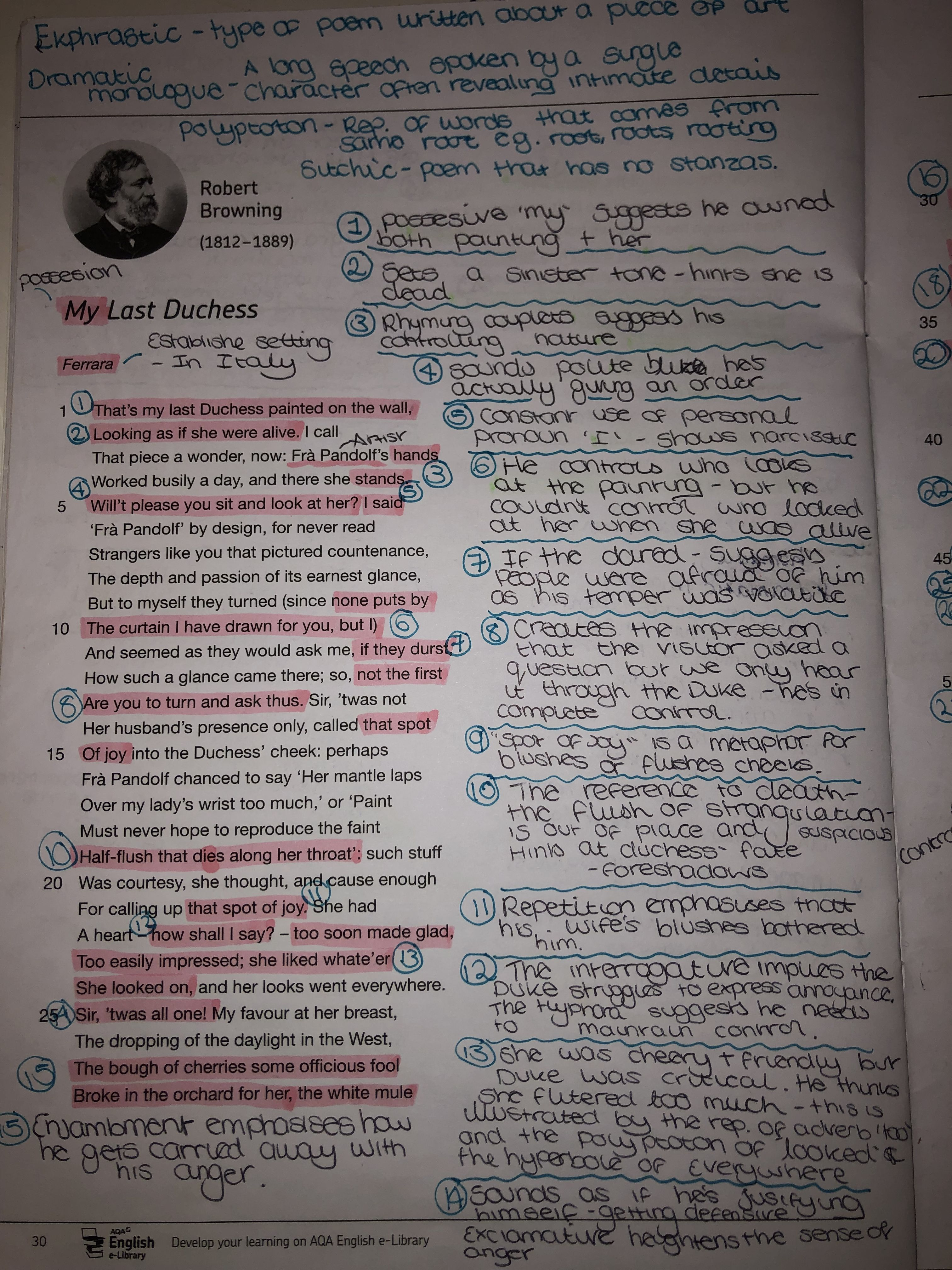 My Last Duches Analysi Poem English Literature Note Poems Line By Analysis