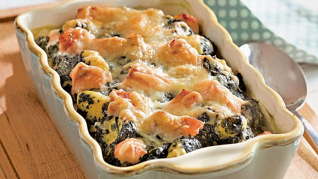 Photo of Gnocchi and spinach bake