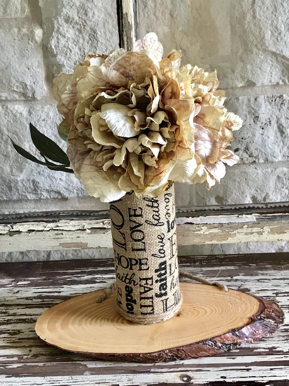 Home decor artificial flowers  Silk Flowers Fall Arrangement Floral Arrangement Love Hope