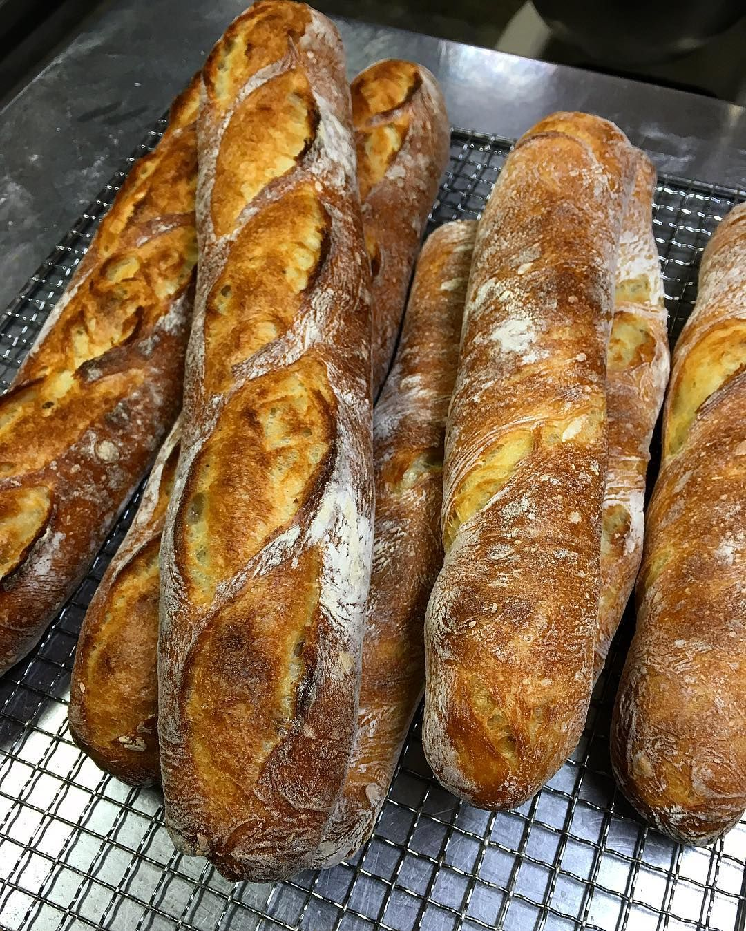 キタノカオリでバゲットを作ってみました 個人的にボツ吸水率100% #bread #pain #キタノカオリ#baguette #個人的に失敗 by takashi_aizu