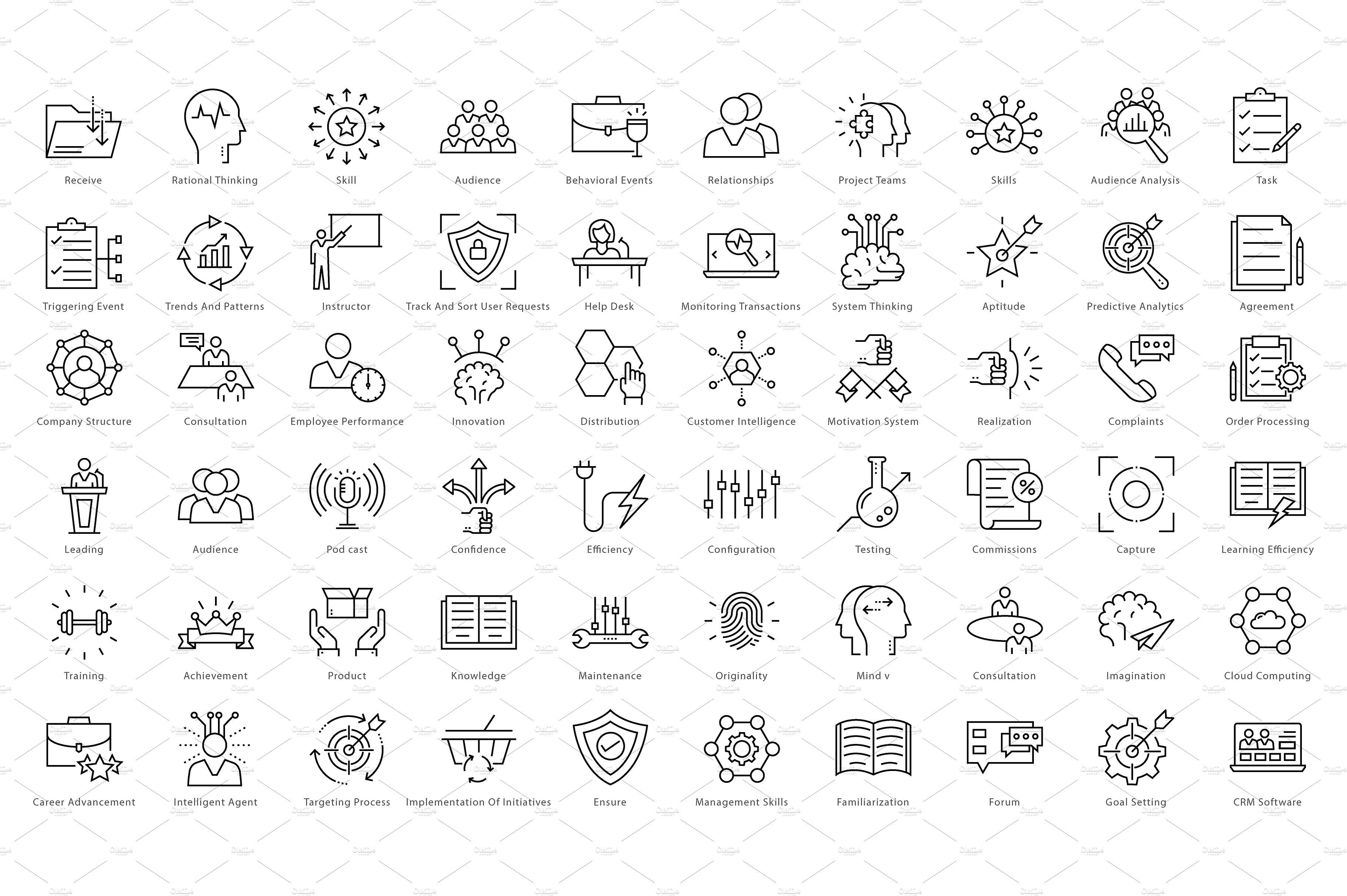 1270 Business Line Icons Line Icon Business Card Design