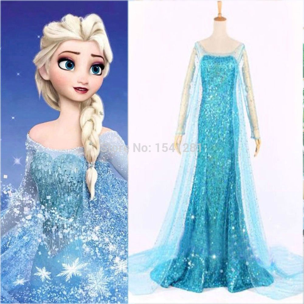 Find More Dresses Information about Frozen Elsa Queen Princess Adult ...