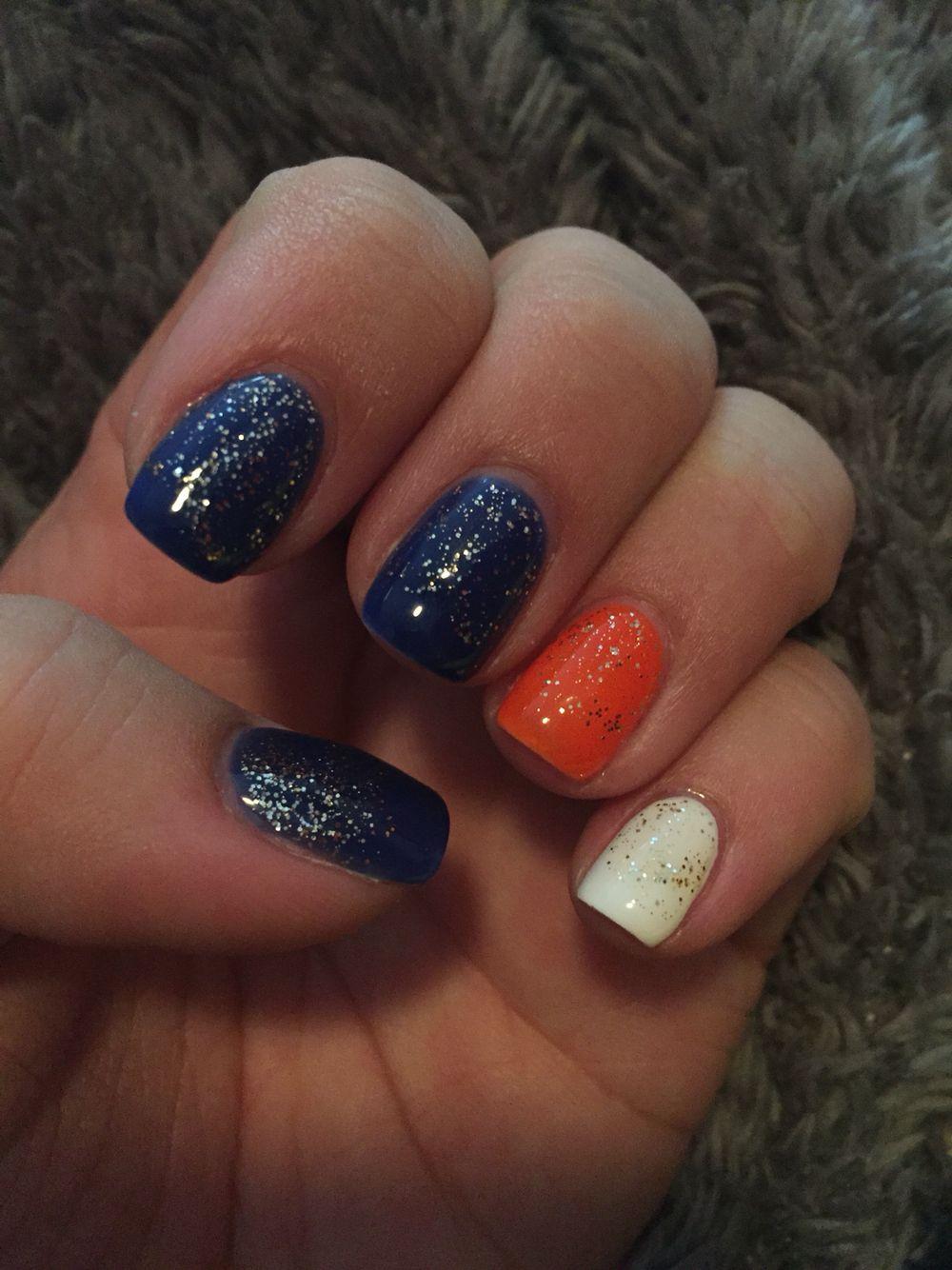 Denver Bronocs Nails! #BroncosCountry #Shellac   My Denver Broncos ...