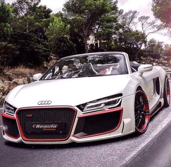 "Turbo Kit Audi R8 V10: Super Car Racing Car Concept 22""x14"" Poster"