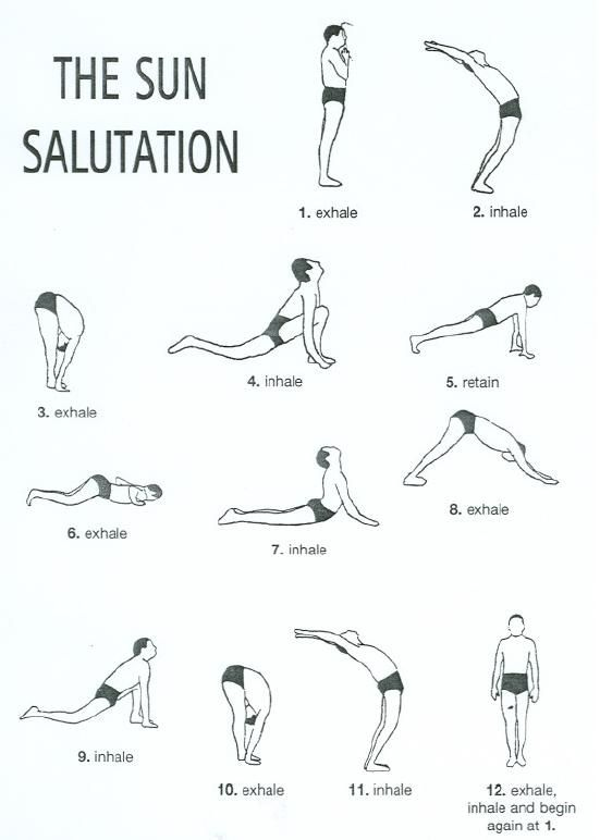 Sun Salutation Yoga Routine Printable Amazing Poses For Beginners
