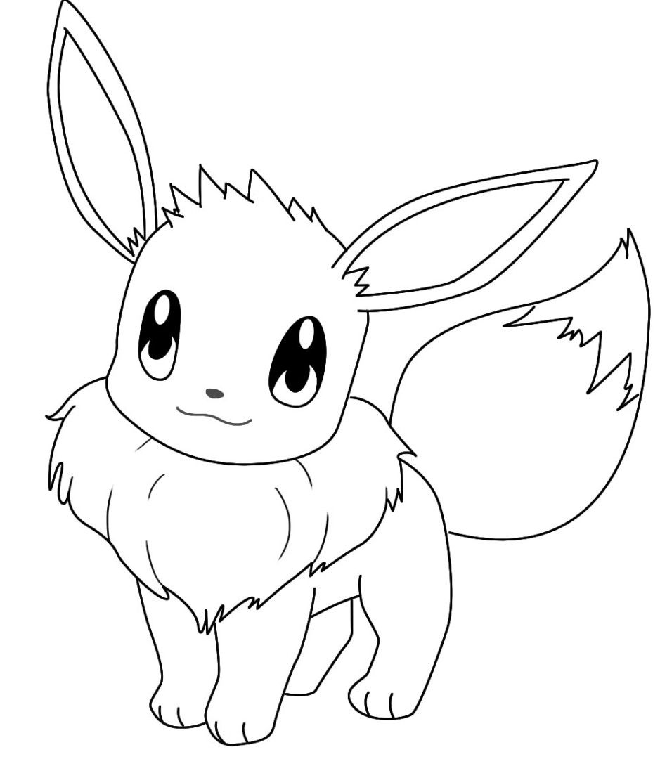 http://colorings.co/pokemon-coloring-pages-eevee/ #Coloring, #Eevee ...