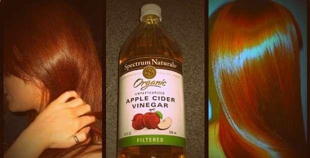 Asi Quedara Tu Cabello Si Lo Lavas Con Vinagre De Manzana Vinegar For Hair Apple Cider Vinegar For Hair Reduce Hair Loss