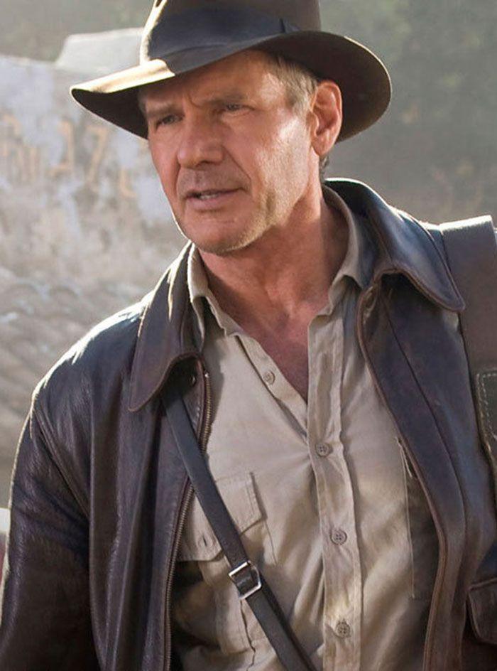 Sala66 Indiana Jones Jacket Leather Jacket Men Distressed Leather Jacket