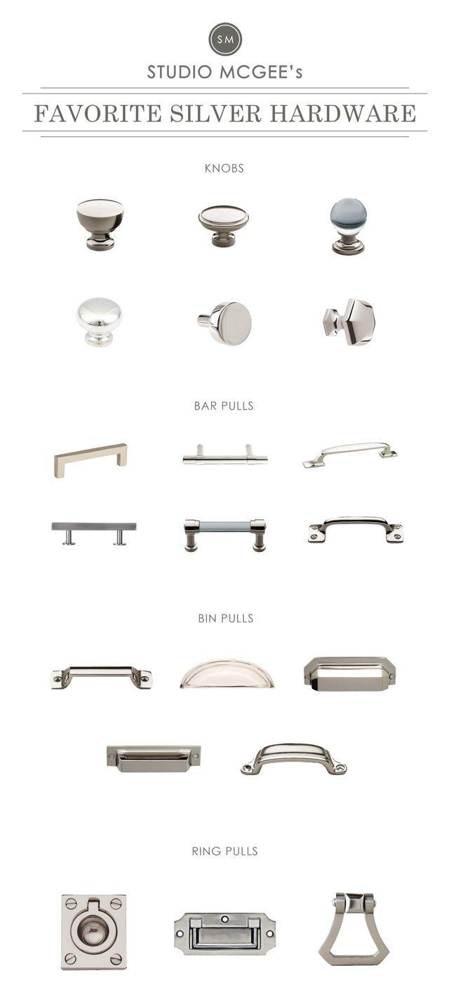 Silver Hardware Roundup (STUDIO MCGEE) | Pinterest | Studio mcgee ...