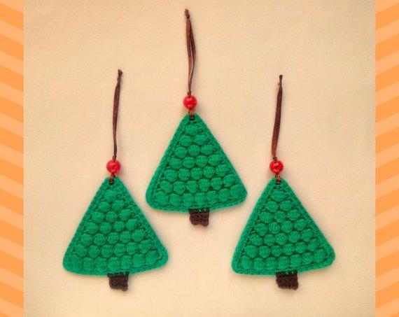 Christmas Tree Toys Handmade.Christmas Tree Crochet Ornament Xmas Tree Decorations